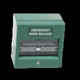 Buton aplicabil din plastic, pentru iesire de urgenta Tensiune: 50Vca, 2A verde