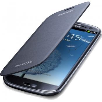 Husa Samsung Flip Cover pentru i9300 Galaxy S III Silver EFC-1G6FGECSTD