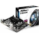 Placa de baza ASRock D1800M Intel Celeron J1800 2.4GHz 2x DDR3 VGA DVI HDMI mATX