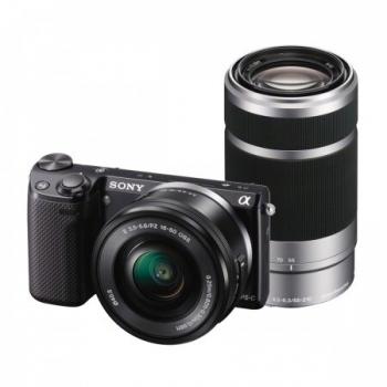 Camera Foto Mirrorless Sony NEX-5RY 16.1MP Obiectiv Kit 16-50mm + 55-210mm NEX5RYB.CE