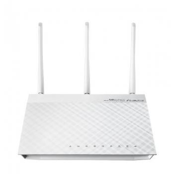 Router Wireless Asus RT-N66W, 1xWAN Gigabit, 4xLAN Gigabit, 3 antene detasabile, dual-band N900 (450/450Mbps), 2xUSB2.0, Asus WRT, VPN Server/ Print Server / FTP server, white