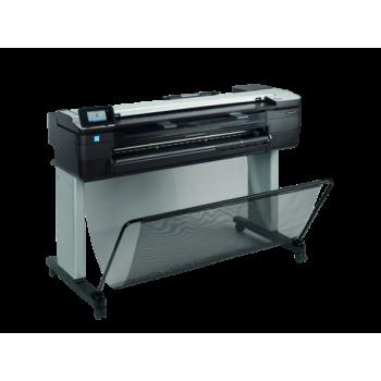 HP DesignJet T830 36in MFP Printer; max 25 sec/A1, 82 formate A1/ora (line drawing), max 2400x1200dpi, 1GB RAM, TIFF, JPEG, HP-GL2/RTL, CALS/G4, HP PCL 3 GUI, URF, roll-feed, sheet-feed, tray, automatic cutter, media max 0.3mm grosime; scanner : max 3.81c