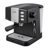 Espressor Heinner HEM-850BKSL, 850 W, 1.5 L, 15 bar, filtru dublu din inox, Negru Argintiu