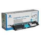 Cartus Toner Konica Minolta A00W332 Cyan 4500 pagini for Minolta Magicolor 2400W, 2430DL, 2450, 2450D, 2450DX, 2480MF, 2490MF, 2500W, 2530DL, 2550, 2550DN, 2550N, 2590MF