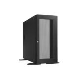 "Carcasa rack CHEMBRO - dimensiuni utile:19""/4U/553mm, 3x5.25"" driver bay la vedere, 4x3,5"" ascunse, 1x12cm cooler in spate, 1x 9cm in fata, usa in fata inchidere cu cheie, laterala inchidere cu cheie, neagra, (MB acceptata ATX, E-ATX12"""