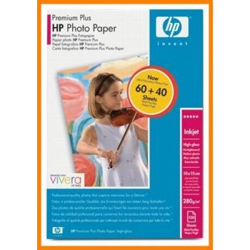 Hartie Foto HP Q8029A Premium Plus High-gloss Dimensiune: 4x6inch, 10x15 cm Numar coli: 100