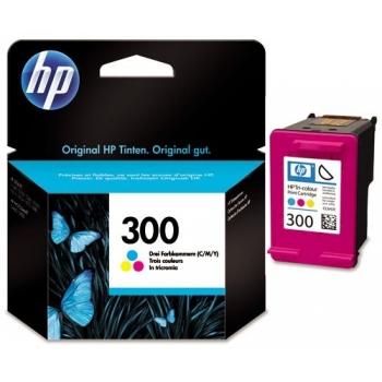 Cartus Cerneala HP Nr. 300 Color Vivera Inks 165 Pagini for Deskjet D1660, D2560, D2660, D5560, F2420, F2480, F2492, F4210, F4280, F4580, Photosmart C4680, Photosmart C4780 AIO CC643EE