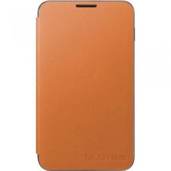 Husa Samsung Flip Cover pentru Galaxy Note N7000 Orange EFC-1E1COECSTD