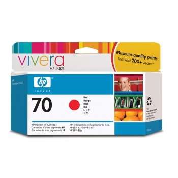 Cartus Cerneala HP Nr. 70 Red Vivera Ink 130 ml for HP Designjet Z2100 24', Designjet Z2100 44' Q6677A, Designjet Z2100 44' Q6677C, Designjet Z3200 24' C9456A