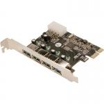 Adaptor Logilink 1x PCI-E Male - 4x USB 3.0 Female PC0057A