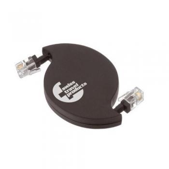 Cablu retractabil SwissTravel RMC11 pentru Modem/Telefon mufa RJ11
