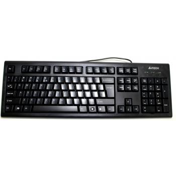 Tastatura A4Tech KRS-85 Comfort Round A-Shape USB Black KRS-85-USB