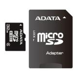 Card Memorie MicroSDHC ADATA 32GB Clasa 4 + Adaptor SD AUSDH32GCL4-RA1