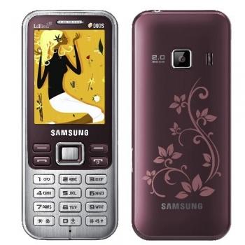 Telefon Mobil Samsung C3322 Scarlet Red La Fleur Dual SIM Camera Foto 2MPx C3322SRED