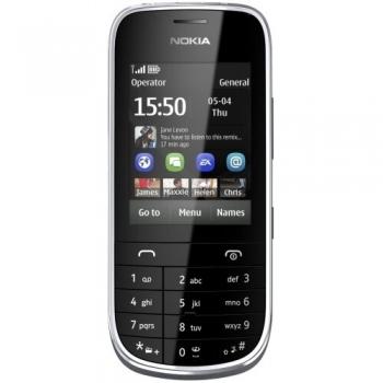 Telefon Mobil Nokia Asha 203 Dark Grey Camera Foto 2MPx NOK203DG