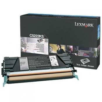 Cartus Toner Lexmark C5222KS Black 4000 pagini for C522N, C524, C524DN, C524DTN, C524N, C530DN, C532DN, C532N, C534DN, C534DTN, C534N