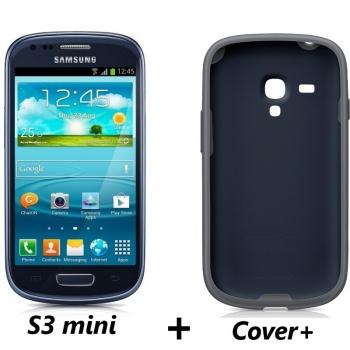 Telefon Mobil Samsung Galaxy S3 Mini i8190 Metallic Blue Cortex A9 Dual Core 1.0GHz 8GB Android 4.1 Husa Protectie SI8190B+EFC-1M7BBEGSTD