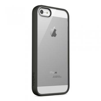 Husa Belkin F8W153VFC00 pentru iPhone 5 Black/Clear