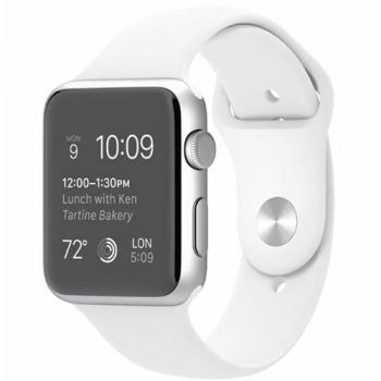 Ceas SmartWatch Apple Watch Sport 42mm Aluminiu White MJ3N2LL