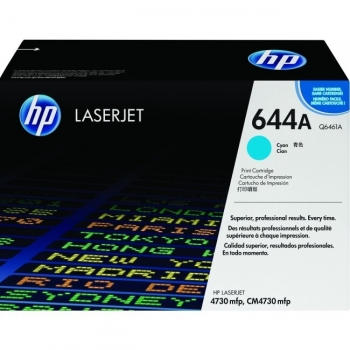 Cartus Toner HP Nr. 644A Cyan 12000 Pagini for Color LaserJet 4730 MFP, 4730X MFP, 4730XM MFP, 4730XS MFP, CM4730 MFP, CM4730F MFP, CM4730FM MFP, CM4730FSK MFP Q6461A