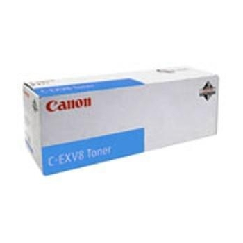 Cartus Toner Canon C-EXV8 Cyan 25000 Pagini for CLC 2620, CLC 3200, CLC 3220, IR C2620, IR C2620N, IR C3200, IR C3200N, IR C3220, IR C3220N, IR C3320, IR C3320N CF7628A002AA