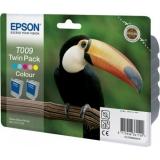 Pachet Cartus Cerneala Epson T009 Twin Pack Color 2x66ml for Stylus Photo 1270, 1290, 900 C13T00940210
