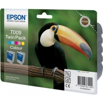 Pachet Cartus Cerneala Epson T009 Twin Pack Color 2x66ml for Stylus Photo 1270, 1290, 900 C13T00940210