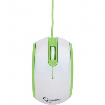 Mouse Gembird Optic 3 butoane 1200dpi USB Green White MUS-105-G