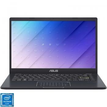 Laptop ASUS 14 E410MA-EK211, FHD, Procesor Intel Celeron N4020 (4M Cache, up to 2.80 GHz), 4GB DDR4, 256GB SSD, GMA UHD 600, No OS, Peacock Blue