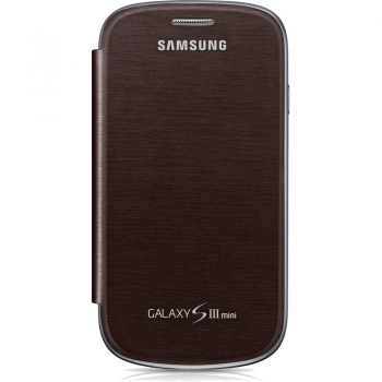 Husa Samsung Flip Cover pentru i8190 Galaxy S III Mini Amber Brown EFC-1M7FAEGSTD