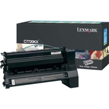 Cartus Toner Lexmark C7720KX Black Extra High Yield Return Program 15000 pagini for C772N, X772N