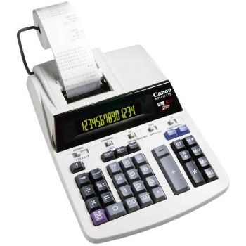Calculator Profesional cu rola Canon MP 1411-LTSC 14 digit ink ribbon 2 culori conversie taxe/valuta/business BE2497B001AA