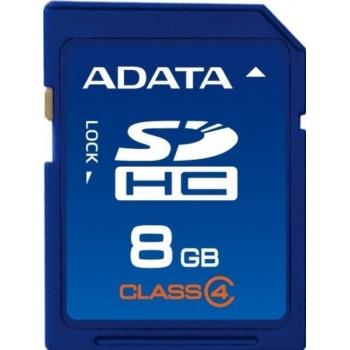 Card Memorie SDHC ADATA 8GB Clasa 4 ASDH8GCL4-R