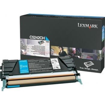 Cartus Toner Lexmark C5242CH Cyan 5000 pagini for C524, C524DN, C524DTN, C524N, C532DN, C532N