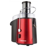 Storcator de fructe Heinner TurboMax 1000,Putere: 1000W, 2 viteze, Material: inox, Culoare rosu, Protectie motor: auto oprire, Recipient suc: 1L, recipient pulpa :2L, Tub larg de alimentare: 75mm