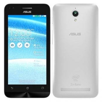 "Telefon mobil Asus ZenFone C ZC451CG White Dual SIM 4.5"" 480 x 854 Intel Atom Dual Core 1.2GHz memorie interna 8GB Camera Foto 5MPx Android v4.4 ZC451CG-1B136WW"
