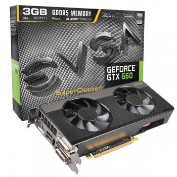 Placa Video EVGA nVidia GeForce GTX 660 SC Signature 2 3GB GDDR5 192bit PCI-E x16 3.0 HDMI 2x DVI DisplayPort 03G-P4-2665-KR