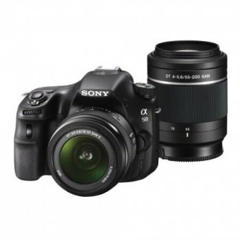 Camera Foto D-SLR Sony SLT-A58 20.1MP Obiectiv kit 18-55mm + 55-200mm 8cps SLTA58Y.CEC