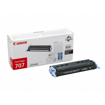 Cartus Toner Canon CRG-707BK Black 2500 Pagini for LBP 5000, LBP 5100 CR9424A004AA