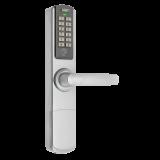 Incuietoare cu cod DLA-5500-PW , cartela si cheie, deschidere cu cod, cartela (MIFARE S50 13.56MHz) si cheie mecanica;Standalone (nu necesita software); include broasca (interax de 85mm) cu 3 puncte de blocare