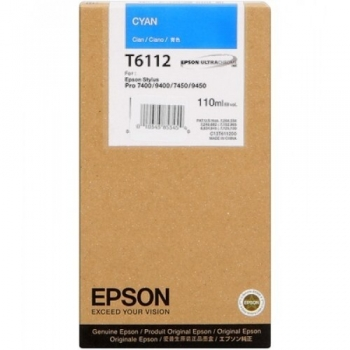 Cartus Cerneala Epson T6112 Cyan 110ml for Stylus Pro 7400, 7450, 9400, 9450 C13T611200