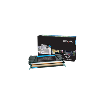 Cartus Toner Lexmark X748H1CG Cyan High Yield Return Program 10000 Pagini for X748