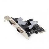 ADAPTOR PCIE-2X SERIAL GEMBIRD SPC-22 (low profile)