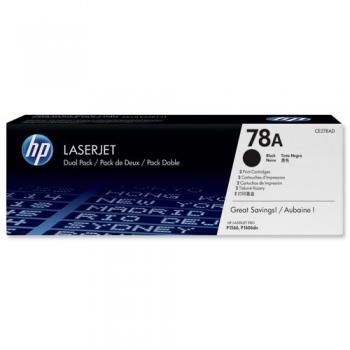 Pachet Cartus Toner HP Nr. 78A Black 2 Bucati 2x 2100 Pagini for Laserjet M1536DNF, Pro P1566, Pro P1606DN