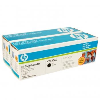 Pachet Cartus Toner HP Nr. 304A Black 2 Bucati 2x3500 Pagini for Color LaserJet CM2320FXIMFP, Color LaserJet CM2320NFMFP, Color LaserJet CP2025, Color LaserJet CP2025DN, Color LaserJet CP2025N CC530AD