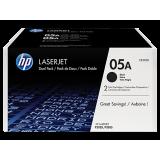 HP 05A Black 2-pack LaserJet Toner Cartridge (2x2300 pag)