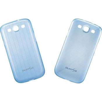 Husa Samsung Slim Cover pentru i9300 Galaxy S III Blue 2 bucati EFC-1G6SBECSTD
