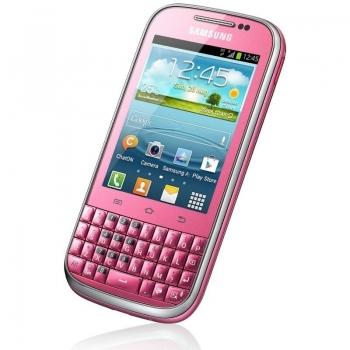 "Telefon Mobil Samsung Galaxy Chat B5330 Pink 3"" 240 x 320 850 MHz memorie interna 4GB Android 4.0 SAMB5330PNK"