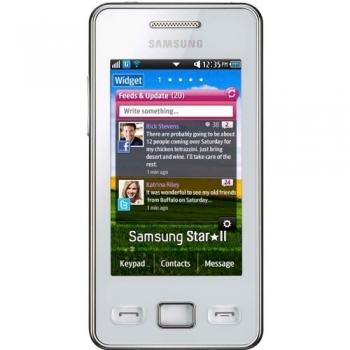 "Telefon Mobil Samsung Star 2 S5260 Ceramic White 3"" 240 x 400 TFT WiFi SAMS5260CW"