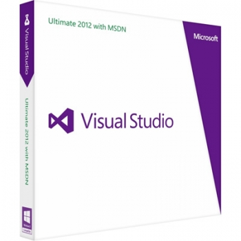 Microsoft Visual Studio Professional 2012 with MSDN Retail 2012 English Programs Medialess renewal
